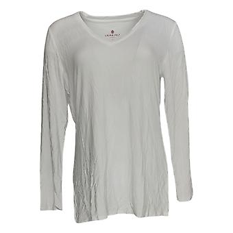 Laurie Felt Women's Top Knit V-Neck Long-Sleeve Top White A346617