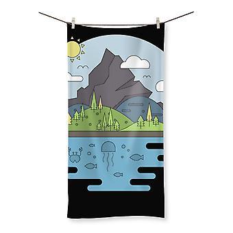 Mountains world ii beach towel