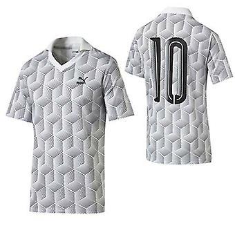 Puma Футбол Джерси Мужчины Короткий рукав Белый печати Поло футболка 570411 02 R10L