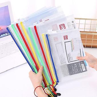 Vedenpitävä valinnainen gridding zip -asiakirjapussi