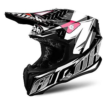Airoh Twist Motorcycle Helmet Replacement Peak Iron Pink PEAK ONLY