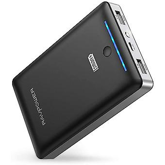 RAVPower Portable Charger 16750mAh Power Bank, with Dual 2.0 USB Ports/Flashlight, 4.5A Max Output
