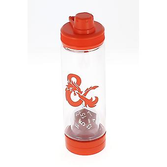 Dungeons & Dragons Water Bottle With 20 Sided Die Inside
