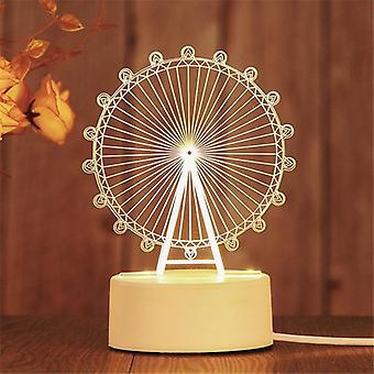 3d uutuus valo led valot lasten makuuhuone lamppu pehmeä valo