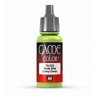 Vallejo Game Color 17ml Acrylic Paint 33 Livery green