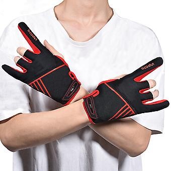 Sports fitness fingerless non-slip gloves B02