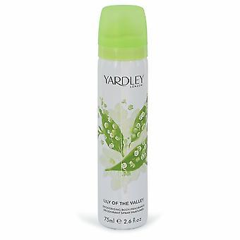 Liljekonvalj Yardley av Yardley London Body Spray 2.6 oz/77 ml (kvinnor)