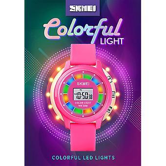 Skmei ילדים בנים בנות ילדים דיגיטליים שעון קל סטופר אזעקה תאריך מהבהב אורות כיף