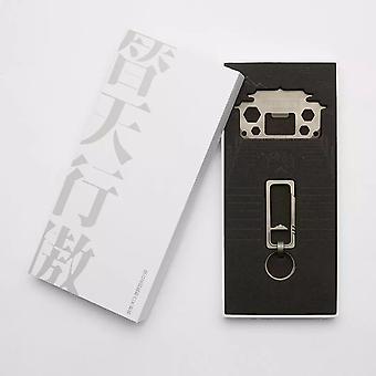 Smartfern Titanyum Alaşımlı anahtarlık EDC Araç Kartı Xiaomi Youpin'den Gri Takım