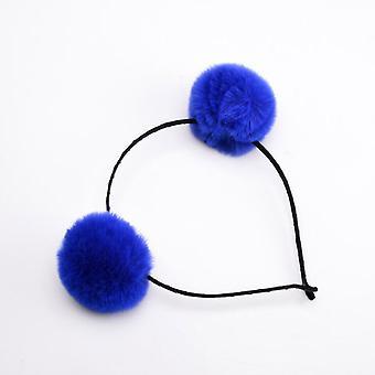 Graziose fasce pompom di palla di pelliccia per princess sapphire blu