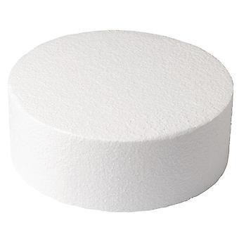 "Round Straight Edged Polystyrène Cake Dummy - 6 x 5"" Profond"