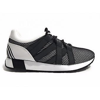 Tênis de sapato feminino Trussardi Jeans Running Black Mesh Ds17tj10