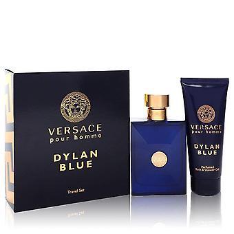 Versace Pour Homme Dylan Blue Gift Set By Versace 3.4 oz Eau de Toilette Spray + 3.4 oz Shower Gel