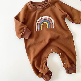 Body body baby rainbow in cotone a manica lunga