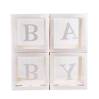 Gold Box Transparent Name Age Box Baby Shower Decorations Baby