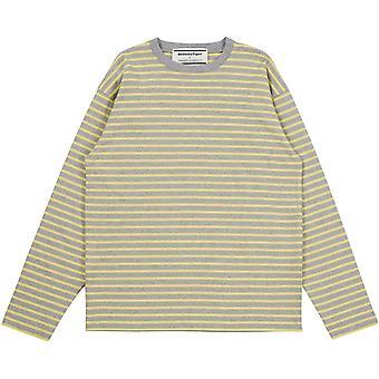 Asics Herren Ls gestreiftt T-Shirt Langarm Rundhals T Shirt T-Shirt Top