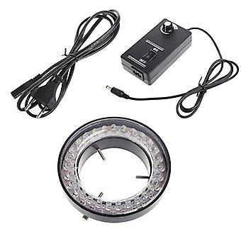60 Led adjustable ring light illuminator lamp for stereo zoom microscope microscope eu plug