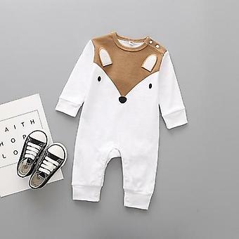 Cute Animals Spring Baby Newborn Long Sleeve Underwear Cotton Romper