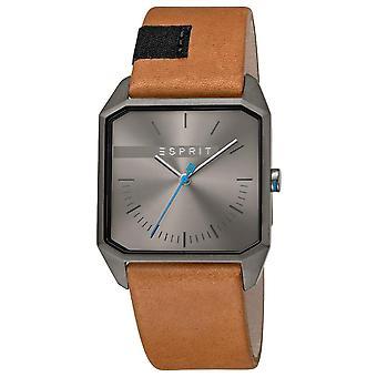 Esprit ES1G071L0025 Brown Leather Strap Mens Watch