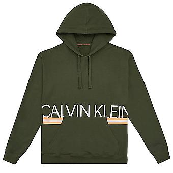 Calvin Klein Pull Over Neon Hoodie, Duffel Bag Green, Small
