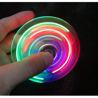 Glød i den mørke voksne leketøy,anti stress ledet fidget tri-spinner