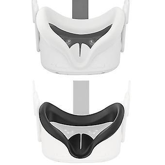 Cubierta de máscara de ojos para oculus quest 2 vr gafas silicona anti-sudor almohadilla de cubierta facial ligera anti-fugas para la búsqueda de 2 accesorios