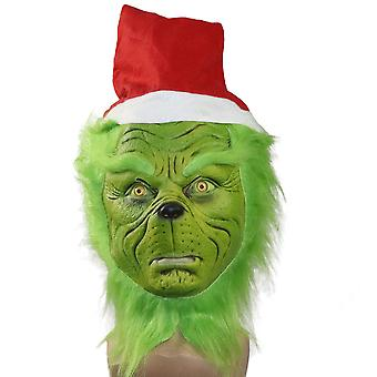 Comment le Grinch a volé masque de Noël Funny Props Headgear Cosplay Masque de Noël