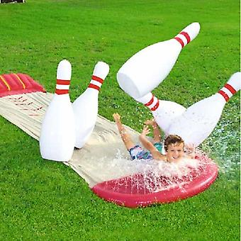 Outdoor Yard Garden Family Inflatable Water Park Slide With Bowling Ball