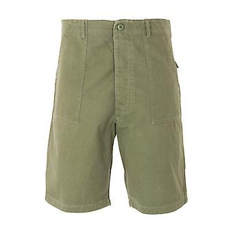 Maharishi Utility 3RD Pattern Organic Cotton Sateen Shorts - Olive