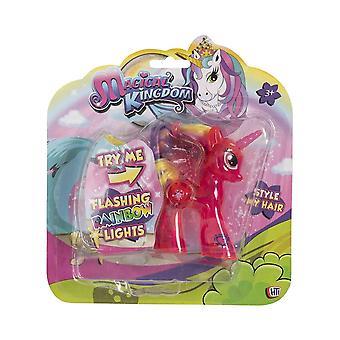 Unicorn Magical Uni-Glow Light Up Figure (Bright Pink)