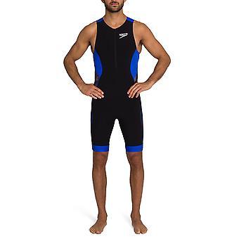 Speedo Fastskin Xenon Triathlon Miesten Uimahihaton Uimapuku Tri Suit Musta