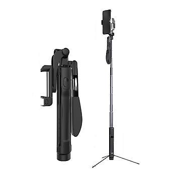 Trådløs bluetooth tripod selfie stick fjernbetjening video balance stabil håndtag selfie stick