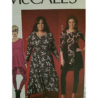 McCalls Schnittmuster 7028 Damen Misses Kleid Tunika Leggings Größe 18w-24w UC