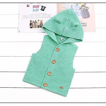 Baby Vests, Autumn, Winter, Warm Hooded Waistcoats, Toddler Outwear, Woolen