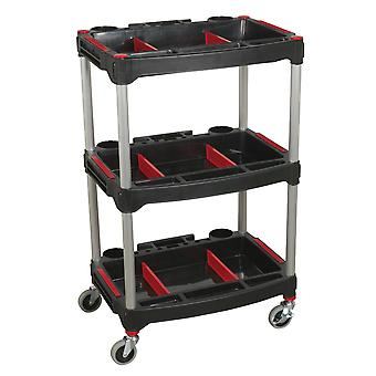 Sealey Cx313 Workshop Trolley 3-Level Composite With Parts Storage