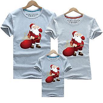 Kerst familie kleding, dans korte mouw T-shirt