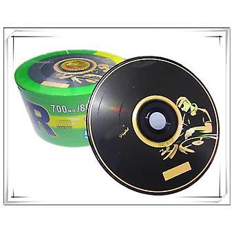 700 Mb tom Dj sort-udskrevet cd-r-disk