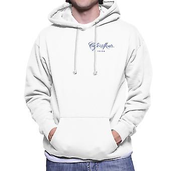 Cafe del Mar Classic Blue Logo Pocket Print Men's Hooded Sweatshirt