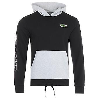 Lacoste Sport Colour Block Hooded Sweatshirt - Black