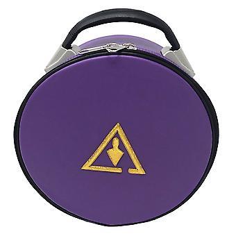 Kuninkaallinen & valitse kryptinen muurattu hattu / korkki kotelo violetti