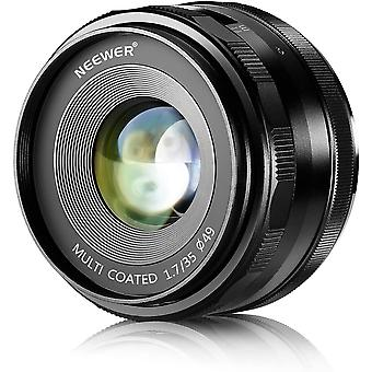 FengChun 35mm F1.7 Große Blende Manuelles Prime Fixed-Objektiv APS-C Kompatibel mit Sony E-Mount