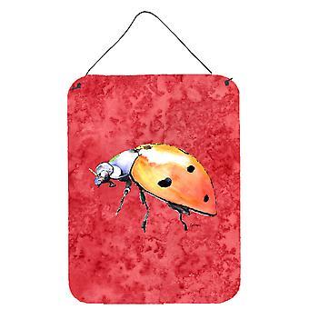 Caroline's Treasures 8868Ds1216 Lady Bug su parete in metallo rosso alluminio o stampe appese alla porta, 16 x 12, multicolore