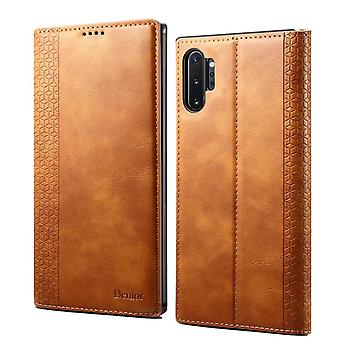 Wallet leather case card slot for samsung s10 brown on80