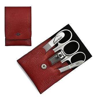 Giesen & Forsthoff's Timor 5-piece Manicure Set in Red Leather Case