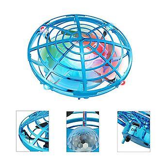 Mini UFO Speelgoed Drone Van Inductie Met de Hand Anti botsing Drone RC Helicopter | RC Vliegtuigen (Blauw)