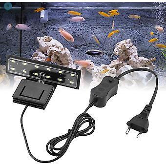 Aquarium led verlichting 5w clipsable lamp zoetwater plant of zee, waterdichte verlichting armaturen vistank (wit licht)