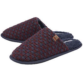 Dunlop - mens ross / ellis soft mule slippers