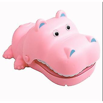 Without light and sound pink hand-bite hippo parent-child interaction electric bite hippo teeth extraction children's tricky toy az4972