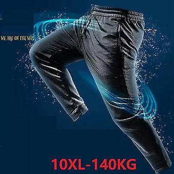Letni mężczyźni oddychające lody jedwabne spodnie duży rozmiar 7xl 8xl 9xl 10xl spodnie duże sprzedaży tanie spodnie do domu dziury sportowe spodnie elastyczność