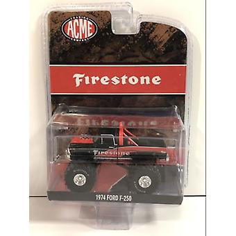1974 Ford F-250 Firestone Monster Truck 1:64 Scale ACME 51272